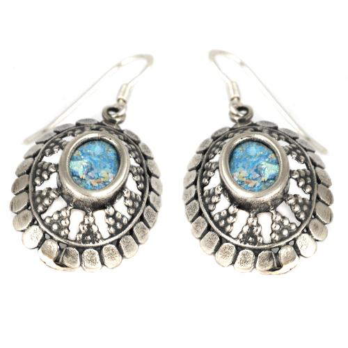 Roman Glass Armor Earrings - Baltinester Jewelry