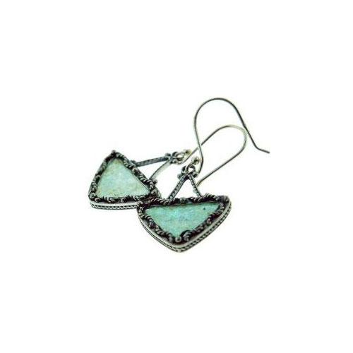 Triangle Filigree Roman Glass Earrings - Baltinester Jewelry