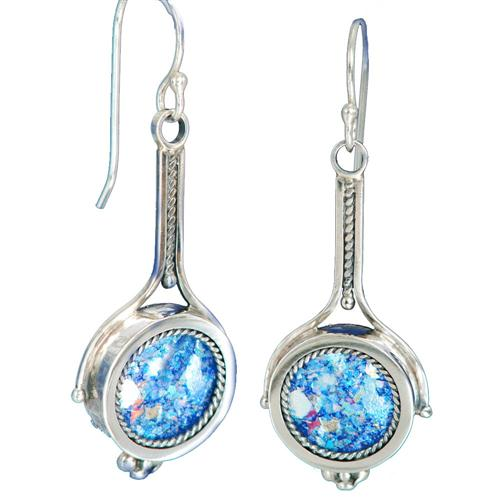Roman Glass Drop Earrings - Baltinester Jewelry