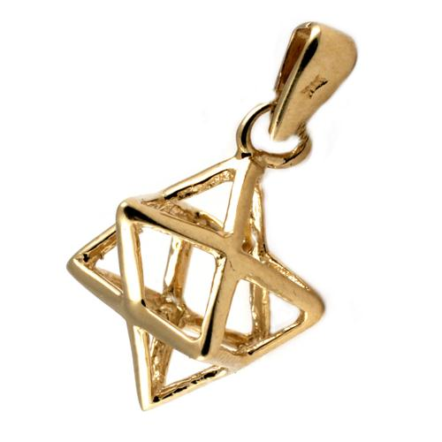 14k Gold Kabbalistic Merkavah Star of David Pendant - Baltinester Jewelry