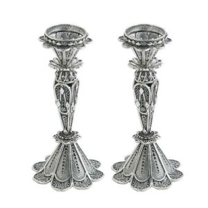 Sterling Silver Small Filigree Candle Holders - Baltinester Jewelry