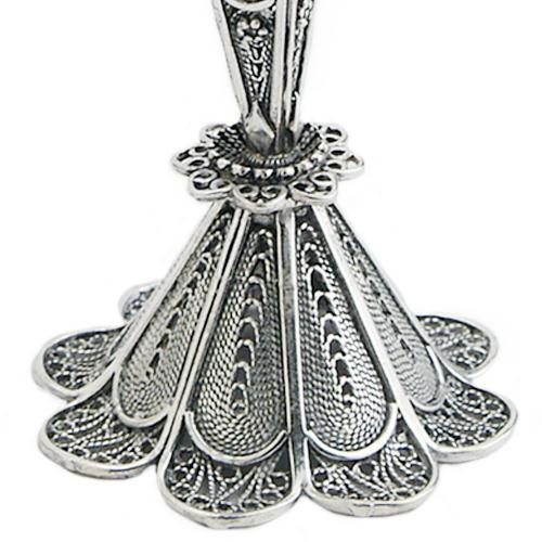 Sterling Silver Small Filigree Candle Holders 3 - Baltinester Jewelry