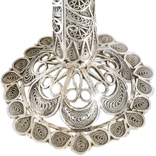 Silver Filigree Flower Candle Holders 3 - Baltinester Jewelry