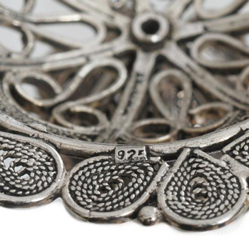 Sterling Silver Flower Filigree Candle Holders 2 - Baltinester Jewelry