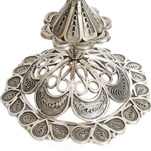 Sterling Silver Flower Filigree Candle Holders 3 - Baltinester Jewelry