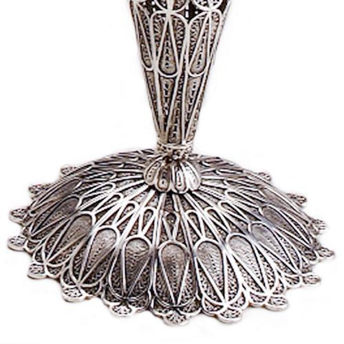 Sterling Silver Tall Filigree Candlesticks 3 - Baltinester Jewelry