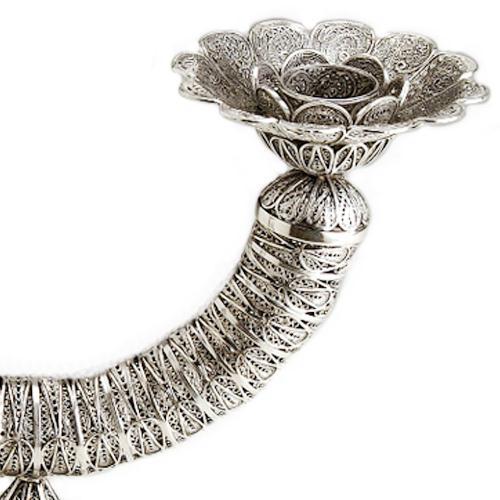 Sterling Silver Filigree Circular Candelabra 2 - Baltinester Jewelry