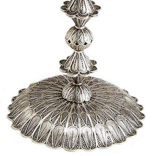 Sterling Silver Filigree Circular Candelabra 3 - Baltinester Jewelry