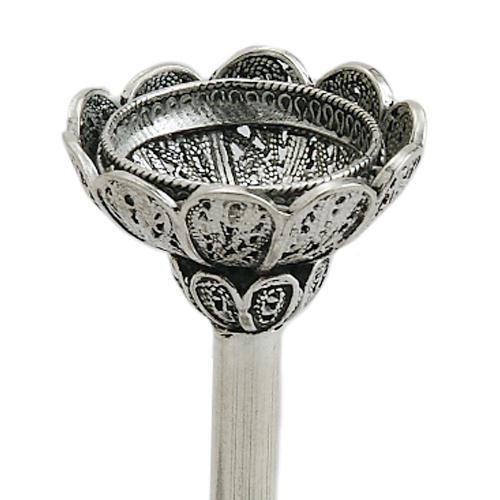 Mini Silver Filigree Candlesticks 2 - Baltinester Jewelry