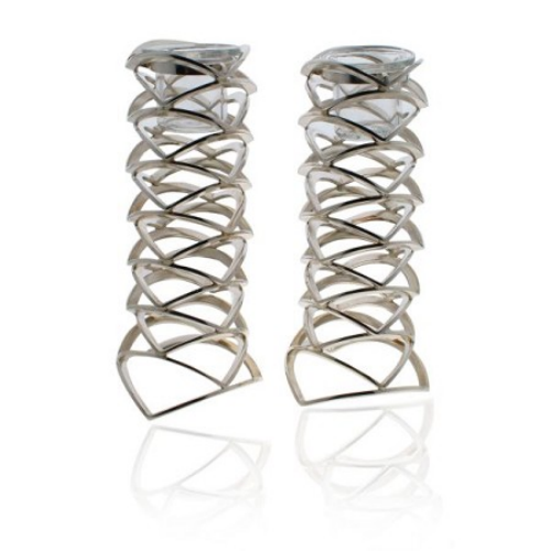 Modern Silver Candle Holders - Baltinester Jewelry