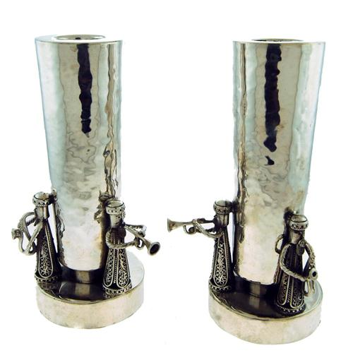 Silver Music Band Candle Holders - Baltinester Jewelry