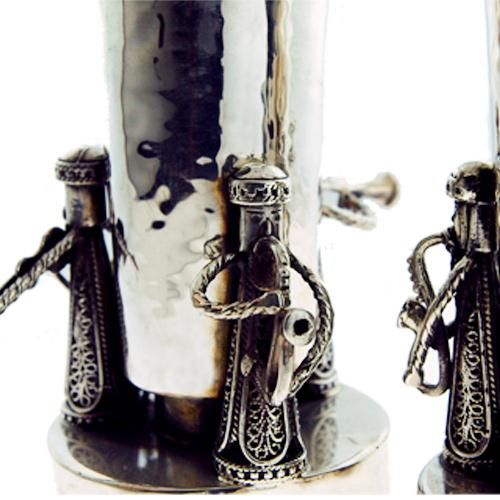 Silver Music Band Candle Holders 2 - Baltinester Jewelry