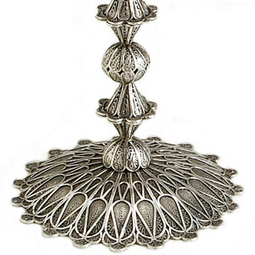 Sterling Silver Filigree Square Candelabra 3 - Baltinester Jewelry