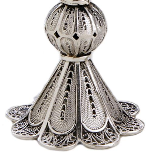 Silver Miniature Filigree Candle Holders 3 - Baltinester Jewelry