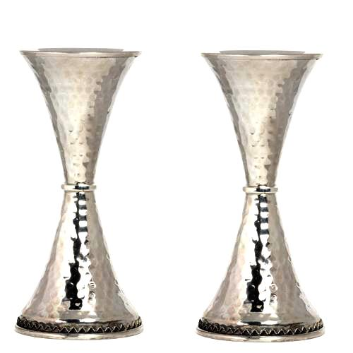 Silver Hammered Candle Holders - Baltinester Jewelry