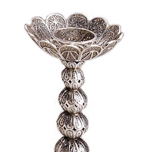 Filigree Knobs Silver Candle Holders 3 - Baltinester Jewelry