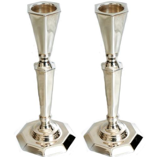 Silver Octagonal Candle Holders - Baltinester Jewelry