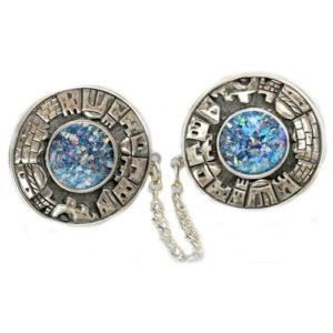 Roman Glass and Jerusalem Tallit Clip - Baltinester Jewelry