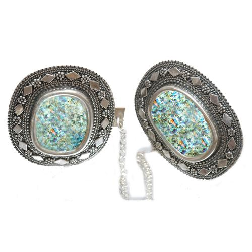 Roman Glass Yemenite Tallit Clip - Baltinester Jewelry