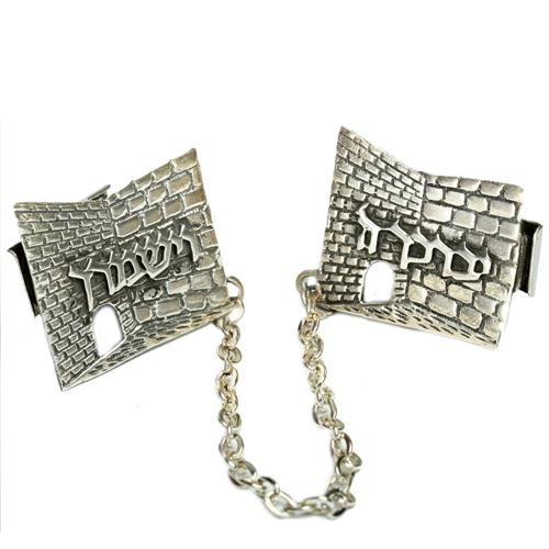 Silver Western Wall Tallit Clip - Baltinester Jewelry