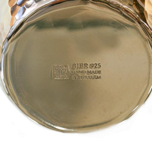 Sephardic Silver Hammered Kiddush Cup 3 - Baltinester Jewelry