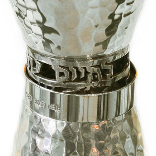 Silver Hammered Shot Glass and Kiddush Cup 2 - Baltinester Jewelry