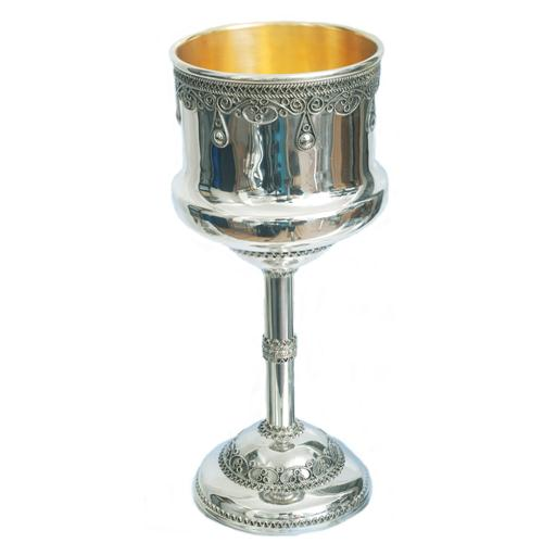 Silver Filigree Drop Kiddush Cup - Baltinester Jewelry