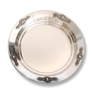 Silver Filigree Flower Kiddush Plate - Baltinester Jewelry