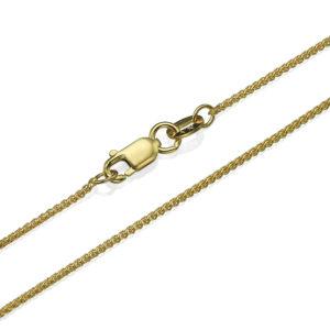 """14k Yellow Gold Round Spiga Chain 1.1mm 16-24"""" - Baltinester Jewelry"""