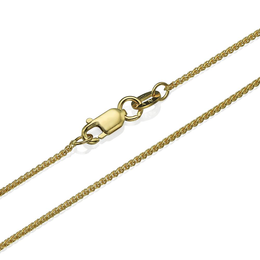 14k Yellow Gold Round Spiga Chain 1.1mm 16-24