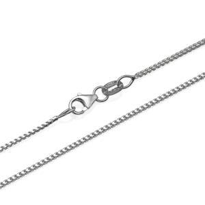 "14k White Gold Franco Chain 1.1mm 16-28"" - Baltinester Jewelry"