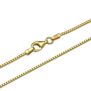 """Franco Chain in 14k Yellow Gold 1.2mm 16-28"""" - Baltinester Jewelry"""