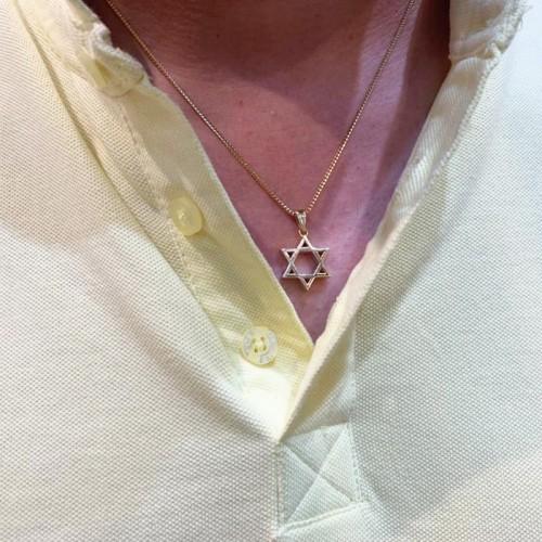 Gold Jewish Star of David Pendant