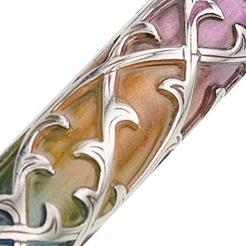 Enamel Colorful Narrow Silver Mezuzah 3 - Baltinester Jewelry