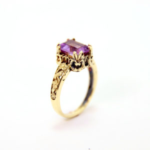 14k Gold Amethyst Ring - Baltinester Jewelry