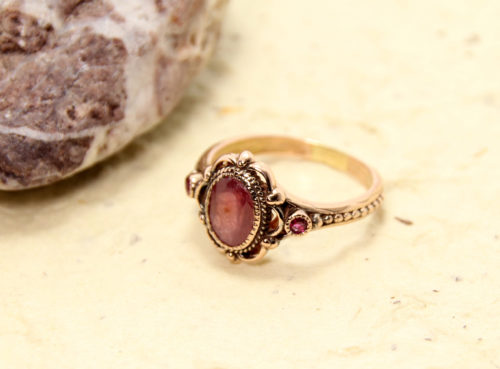 Rose Gold Ruby Cocktail Ring 2 - Baltinester Jewelry