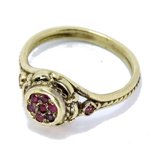 14k Gold Ruby Cluster Ring 2 - Baltinester Jewelry