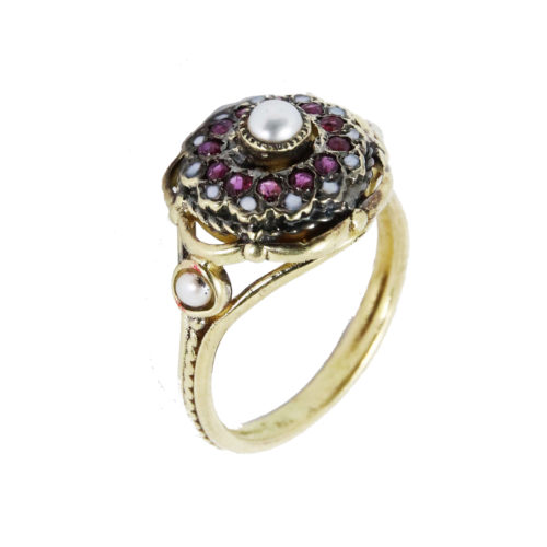 Pearl Flower Ring 14k Gold - Baltinester Jewelry