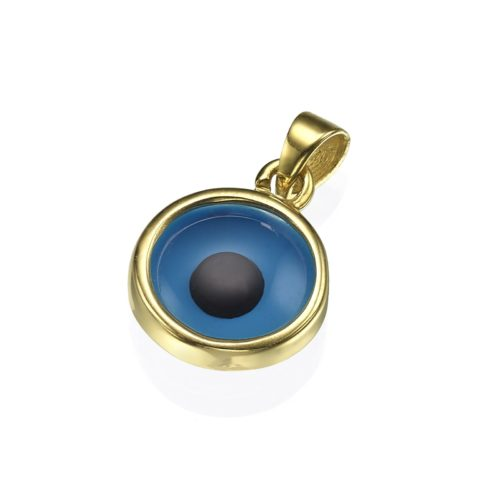 crystal evil eye pendant