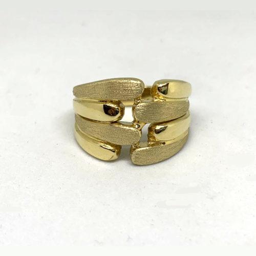 14k Gold Israeli Sabra Ring 3 - Baltinester Jewelry