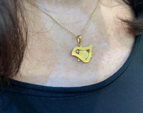 Dove of Peace Star of David Pendant