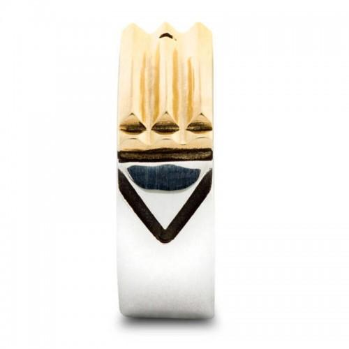 Silver and Gold Purifying Energizing Atlantis Ring