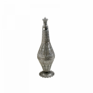 Silver Wine Bottle with Filigree Work