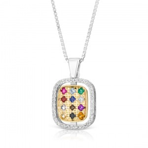 Silver and Gold Hoshen Necklace